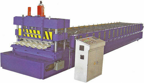 Roll former metal roofing tile forming machine